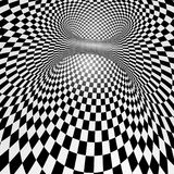 Black and white abstract vector tunnel. Optical illusion Royalty Free Stock Image