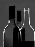 Black & White Abstract Wine Glassware Stock Photography