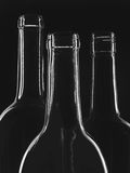 Black & White Abstract Wine Glassware Stock Photo