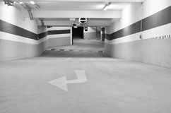 Underground pargking route access Royalty Free Stock Photos