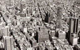 Black and white aerial view of New York City Stock Photography