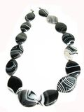 Black and white agate colored beads Royalty Free Stock Photography