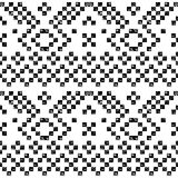 Black and white aged geometric aztec grunge seamless pattern, vector Stock Image