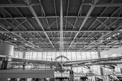 Black and White Air Force One in Ronald Reagan Presidential Library, Simi Valley, California Royalty Free Stock Photos