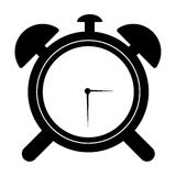 Black and white alarm clock Royalty Free Stock Photos