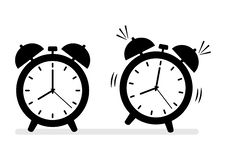 Alarm clock icons. Vector illustration royalty free illustration