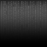 Black and White. Algorithm Binary Code with digits on background Stock Photo