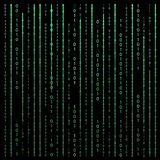 Black and White. Algorithm Binary Code with digits on background. Encoding, decryptiondata code, matrix. Vector Illustration. EPS10 Royalty Free Stock Images
