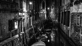 Black and white Alley of Venice Stock Images