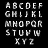 Black and white alphabet decorated with arrows. Royalty Free Stock Photography