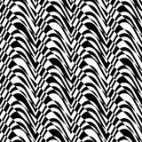 Black and white alternating bulging waves with diagonal cut Stock Image