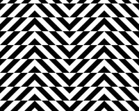 Black and white alternating chevron with horizontal cut Stock Images