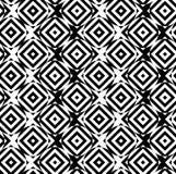 Black and white alternating circles cut through squares diagonal Stock Photos