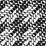 Black and white alternating diagonal ways circle cut Stock Image