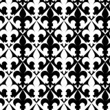 Black and white alternating Fleur-de-lis Royalty Free Stock Images