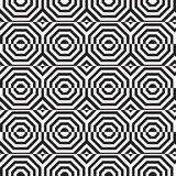 Black and white alternating octagons with horizontal cut Stock Image