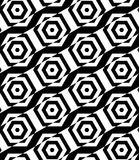 Black and white alternating rectangles cut through hexagons diag Stock Photo