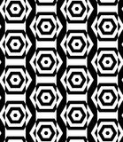 Black and white alternating rectangles cut through hexagons vert Royalty Free Stock Images