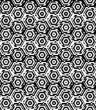 Black and white alternating small squares cut through hexagons Stock Image