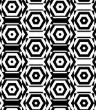 Black and white alternating squares cut through hexagons vertica Royalty Free Stock Image