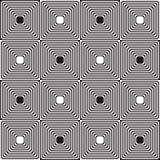 Black and white alternating squares Stock Image