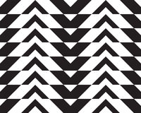 Black and white alternating thick chevron with horizontal cut Stock Images