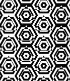 Black and white alternating triangles cut through hexagons Royalty Free Stock Image