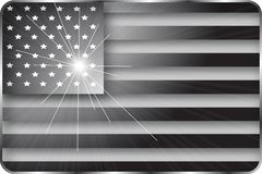 Black and White American Flag Royalty Free Stock Photo