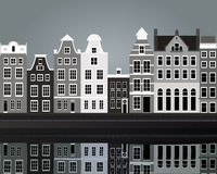 Black and white Amsterdam Royalty Free Stock Image