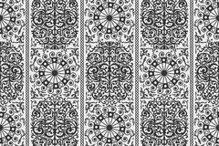 Black and white ancient vintage seamless ornamental texture. Vector illustration Stock Image