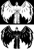 Black and white angel royalty free stock photography
