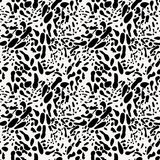 Black And White Animal Skin Imitation Seamless Pattern Royalty Free Stock Images