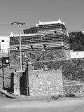 Black&white antiguo de la casa árabe vieja Fotografía de archivo