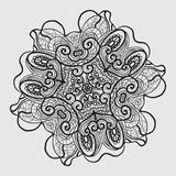 Black and white antique abstract oriental design motifs vector illustration Royalty Free Stock Images