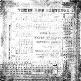 Black and white antique old numerical texture Royalty Free Stock Photos