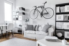 Black and white apartment Stock Images
