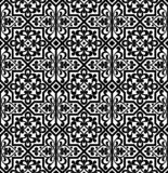 Black and white arabic geometric seamless pattern, vector. Simple black and white arabic geometric seamless pattern, vector background, texture stock illustration