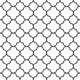 Black and white arabic traditional geometric quatrefoil seamless pattern, vector Stock Image