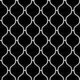 Black and white arabic traditional quatrefoil seamless pattern, vector. Background Stock Photo