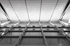 Black and white architectural symmetry stock image