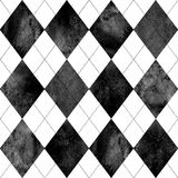 Argyle Pattern Black White Stock Vector Illustration Of