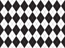 Black white argyle seamless pattern Royalty Free Stock Images