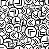 Black and white arrows seamless pattern. Royalty Free Stock Images