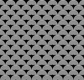 Black and white art deco seamless pattern Royalty Free Stock Images