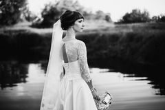 Artistic black and white photography. Wedding photography Royalty Free Stock Images