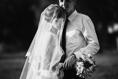 Artistic black and white photography. Wedding photography Stock Image