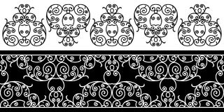 Black and white artistic designs Stock Photos