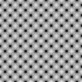 Black and White Asanoha Web Seamless Pattern stock illustration