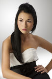 Black and white asian girl Stock Images