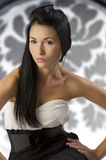 Black and white asian girl Royalty Free Stock Images